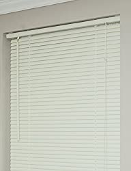 Achim Home Furnishings Morning Star 1-Inch Mini Blinds, 26 by 64-Inch, Alabaster