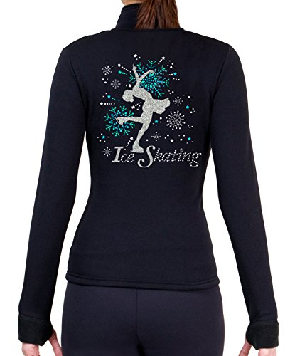 ny2 Sportswear Figure Skating Polartec Polar Fleece Jacket with Rhinestones JS100 (Child -