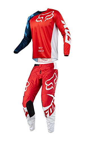 Red Mx Gear - Fox Racing 2018 180 Race Jersey/Pants Adult Mens Combo Offroad MX Gear Motocross Riding Gear Red