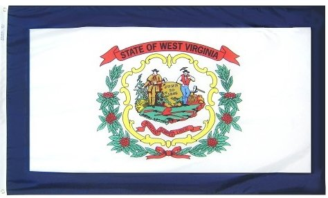 3x5' West Virginia Heavy Weight Nylon Flag From All Star Fla