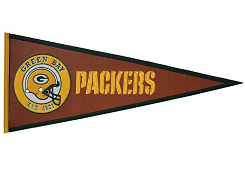 Nfl Pennant Wool - NFL Green Bay Packers Pigskin Pennant