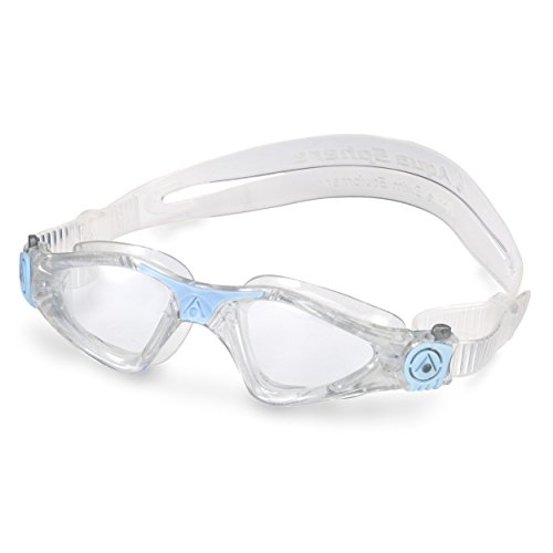 Aqua Sphere Kayenne Ladies Swimming Goggle with Clear Lens, Clear & Blue UV Protection Anti Fog Swim Goggles for Women by Aqua Sphere (Image #4)