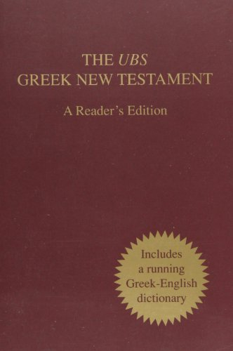 UBS Greek NT - A Readers Edition