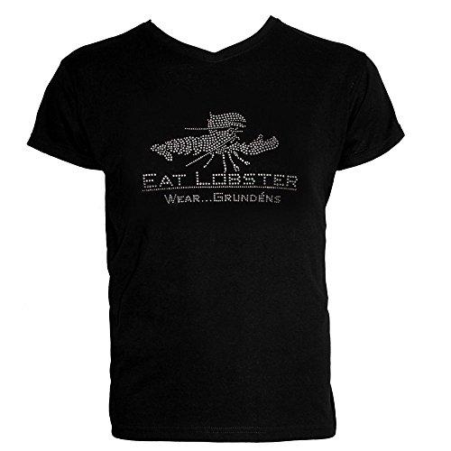 (Grundens Eat Lobster Bling T-Shirt - XX-Large, Black)