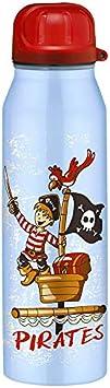 ALFI Cantimplora Hermética IsoBottle, Diseño de Piratas, Azul, Acero Inoxidable, 0,5l, 5337643050