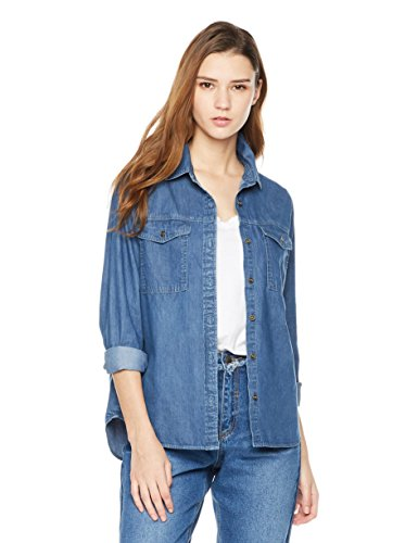 Lily Parker Women's Casual Long Sleeve Denim Sh...