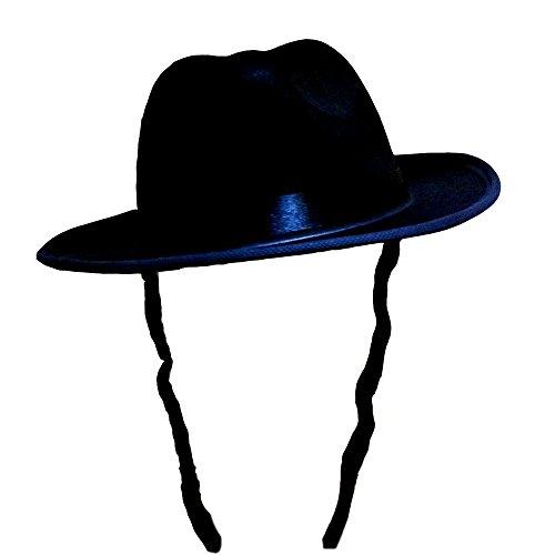 Dress Up America Unisex-Adult's Black Fedora with Side Locks, One Size Fits Mone Sizet]()