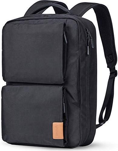Lymmax Laptop Backpack, Hidden Handle Shoulder Strap Design Waterproof College Backpack, Slim Convertible Bookbag for Business School Travel Daypack