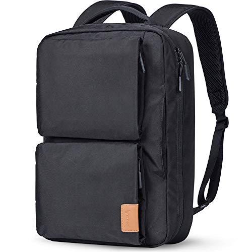 (Lymmax Laptop Backpack, Hidden Handle & Shoulder Strap Design Waterproof College Backpack, Slim Convertible Bookbag for Business School Travel Daypack)