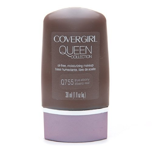 CoverGirl Queen Collection Oil-Free Moisturizing Make up, True Ebony Q755 1 fl oz (30 ml) by AB
