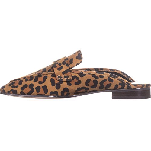 BCBGeneration Womens Sabrina Leather Closed Toe Slide Flats Leopard Brown Multi hot sale with credit card cheap price clearance pick a best cheap sale pay with paypal buy cheap Inexpensive g6Ro7tXZfR