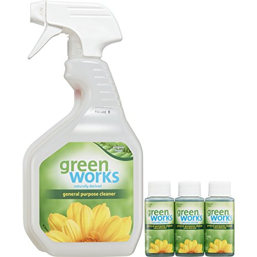 - Green Works All-Purpose Cleaner Concentrate Value Pack, Cleaning Spray - Spray Bottle + Three 1 Ounce Concentrates