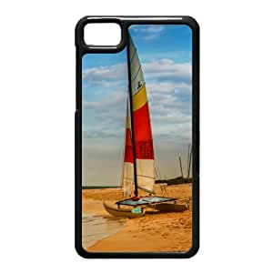 Black Berry Z10 Case,Boat On Oahu Beach High Definition Wonderful Design Cover With Hign Quality Hard Plastic Protection Case