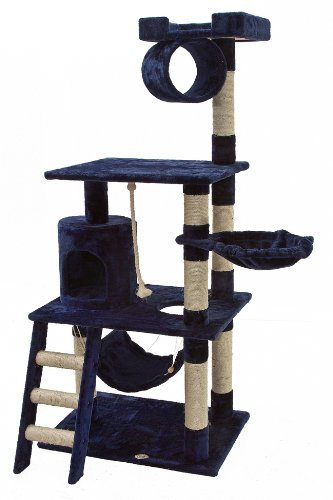 Go Pet Club Cat Tree Furniture 62 in High Blue