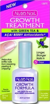 Nutra Nail Growth Formula Plus Green Tea and Acai Berry - 0.45 oz