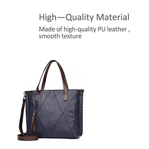 Strap Shoulder amp; Blue Bag Top Doris Totes Multiple Handle And With Woman Nicole Compartments vnWAfxzqf
