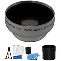 Wide Angle FishEye Kit includes 52MM 0.40X Aspherical Wide Angle FISHEYE Lens With Macro + Lens Tube Adapter + Mini Tripod + LCD Screen Protectors + Camera Cleaning Kit For Panasonic Lumix DMC-FZ7 Better than 0.42X MADE IN JAPAN!