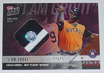 size 40 cebae 47903 Amazon.com: 2018 CARLOS CORREA TOPPS NOW GAME USED ASTROS ...