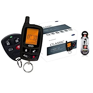 AUTOMATE 5305A 2 WAY LCD VEHICLE CAR ALARM KEYLESS ENTRY REMOTE START SYSTEM/FREE NUTEK HEADPHONES