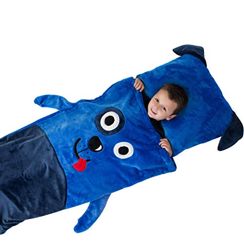 Kids Plush Sleeping Bag with Pillow (Dog)]()