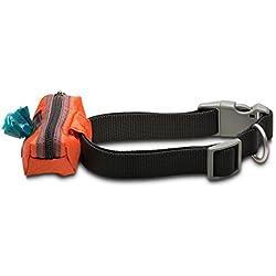 Dog Poop Bag Holder - Collar Wallet (Black)