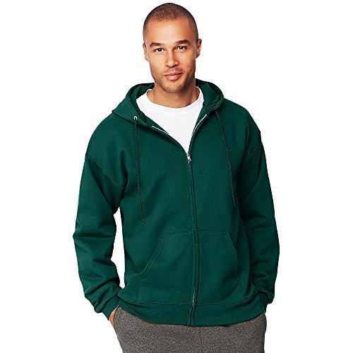 F280 Hoodie Sweatshirt - Hanes Men's Ultimate Cotton Heavyweight Full Zip Hoodie_Deep Forest_XL