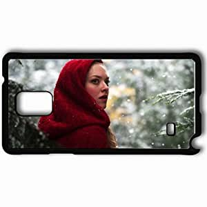 Personalized Samsung Note 4 Cell phone Case/Cover Skin Amanda seyfried in red riding hood movies Black