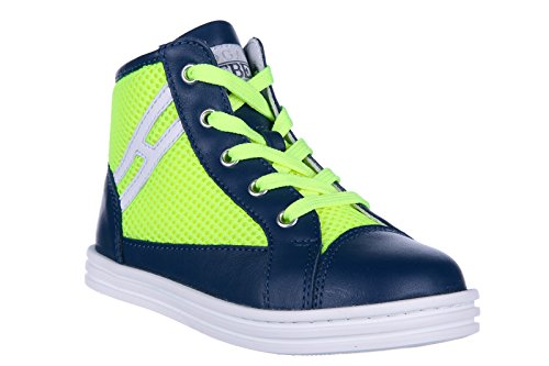 Hogan Rebel BabyschuheSneakers Kinder Baby Schuhe High Turnschuhe Leder r141 bl