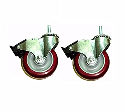 "(Pack of 2) Colson Swivel Stem Caster 5"" x 1-1/4"" Polyurethane Wheel(1/2"" Thread"