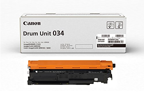 Canon 034 Drum Unit (Black, 1 Pack) in Retail Packaging