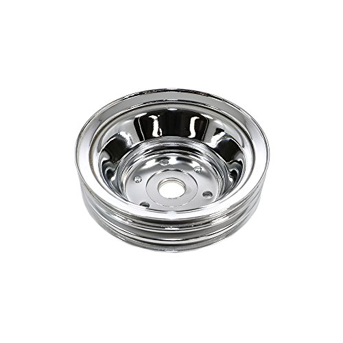 - Assault Racing Products A9608 Small Block Chevy Chrome Triple Groove Crankshaft Pulley Long Style SBC