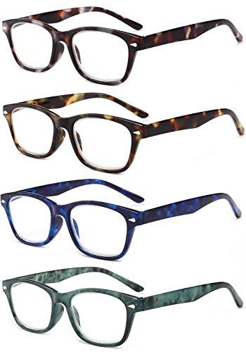 Azul Leer Lectura Hombre 2 0 1 3 Gafas de Leopardo Graduadas 1 Rectangulares Bisagras 5 2 Carey Mujer 3 Vista Grande 0 con Presbicia 5 Retro 0 4 Gafas VEVESMUNDO Turquesa Resorte 0 4 de 5 EIHOwnqE