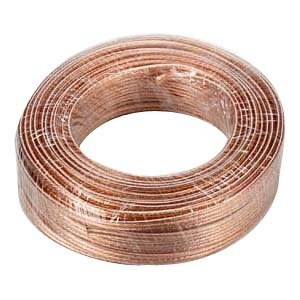InstallerParts 14AWG 2-Conductor Polarized Copper Speaker Wire (Clear, 100 Feet) ()