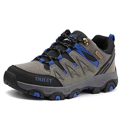 ZOEASHLEY Trekking Wanderschuhe Herren Damen Wasserdicht Outdoor Schuhe Walkingschuhe Gr.36-47 Grau
