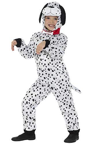 Smiffy's Dalmatian Kids Fancy Dress Dog Puppy Book Day Week Boys Girls Childrens Costume BLACK AND WHITE Medium -