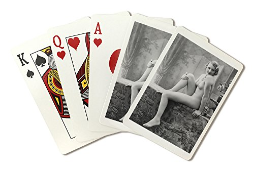 (Nude Woman French Art Nouveau?Photograph #8 (Playing Card Deck - 52 Card Poker Size with Jokers))