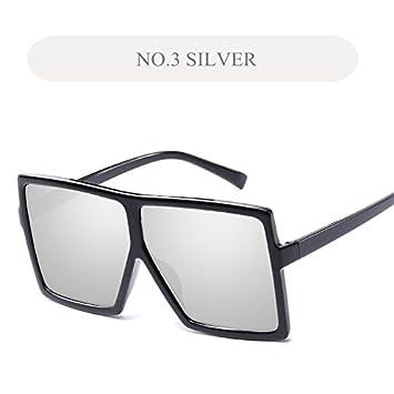 a38b3274371d KLXEB Übergroße Sonnenbrille Frauen Quadratische Sonnenbrille ...