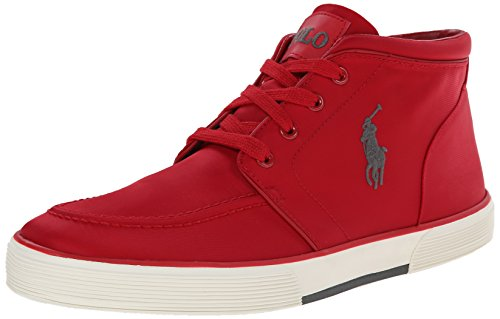 Polo Ralph Lauren Men's Federico Fashion Sneaker, Rl Red, 11 D US