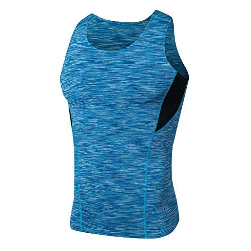4901ad5218aca Dainzuy Men s Tank Tops Classic Basic Athletic Vest Casual T Shirts  Bodybuilding Breathable Sports Slim Sleeveless