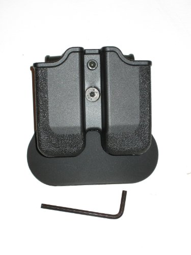 (IMI RSR Defense MP04 - Double Paddle Mag Pouch Black)