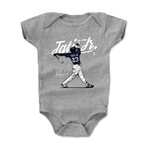 500 LEVEL Fernando Tatis Jr. San Diego Baseball Baby Clothes, Onesie, Creeper, Bodysuit (12-18 Months, Heather Gray) - Fernando Tatis Jr. Score W -