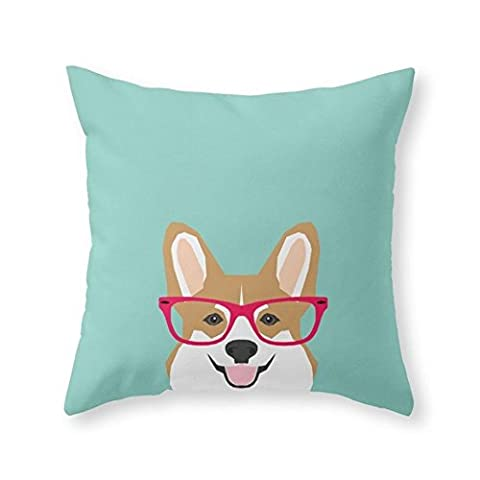Sea Girl Soft Teagan Glasses Corgi Cute Puppy Welsh Corgi Gifts For Dog Lovers And Pet Owners Love Corgi Puppies Throw Pillow Indoor Cover Pillow Case For Your Home(18in x - Italian Jerky