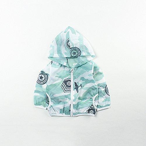 夏の迷彩ベビーサンプロテクション衣類薄い通気性の赤ちゃんベビーサンプロテクションコート肌の服1-3歳,ショーとして,75?105cm DYY