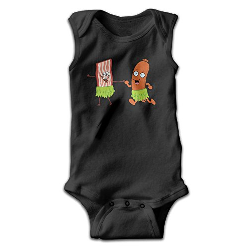 Bacon And Hot Dog Are Dancing With Hula Unisex Baby 100% Cotton Lightweight Sleeveless Bodysuits Onesies 18 Months