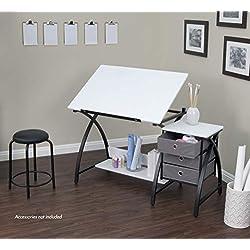 Studio Designs 13326 Comet Center with Stool, Black/White