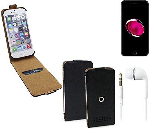 TOP SET: Schutz-Hülle für Apple iPhone 7 Plus, schwarz + Kopfhörer / Headset. 360° Handy Case Hülle Smartphone Tasche mit Kameraschutz - K-S-Trade (Wir zahlen Steuern in Deutschland!)