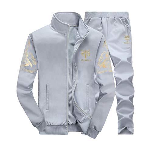 Col Plus Solide Top Casual Sweat Automne Gris Hiver Fashion Manches Haut Manteaux Shobdw Man Costume Ensembles Épais Pantalon Size Longues 5x01w178q