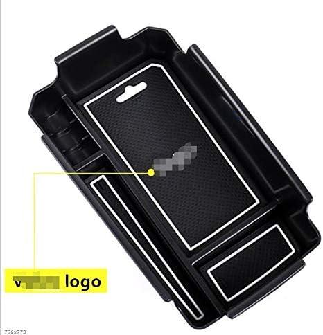 Caja de Almacenamiento de Coches reposabrazos Central Titular de contenedores con Silicona Mat Forma for el Volvo XC40 2019 Auto Accesorios Interior Color : Fit for Volvo Logo