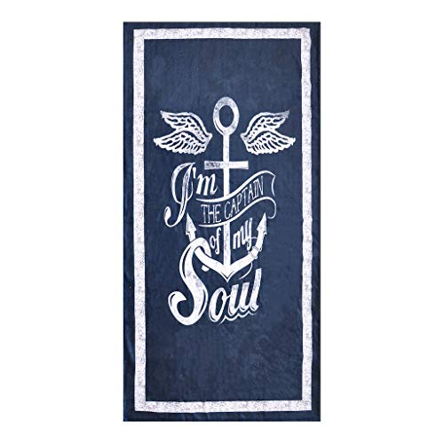 OZINCI 3D Printing Nautical Towel Anchor Themed Beach Towel, Perfect for Beach and Swimming Pool for Both Adults and Kids, Turkish Cotton Towel, Over Sized Super Soft Absorbent Large Towels