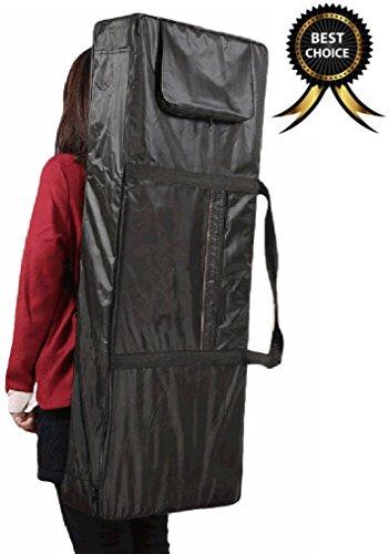 61 Key Electronic Keyboard Bag Black Case Oxford Travel Bag - 6